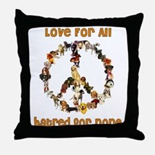 Dogs Of Peace Throw Pillow