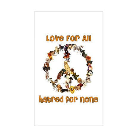 Dogs Of Peace Rectangle Sticker 10 pk)