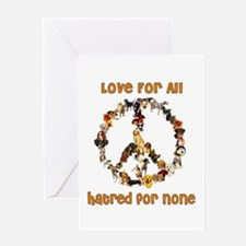 Dogs Of Peace Greeting Card