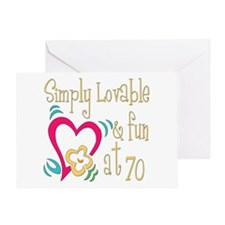 Lovable 70th Greeting Card