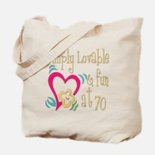 Lovable 70th Tote Bag