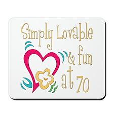 Lovable 70th Mousepad