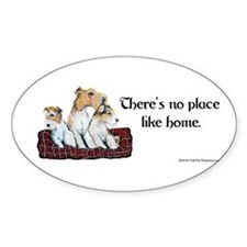 Wire Fox Terrier Home Oval Decal