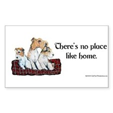 Wire Fox Terrier Home Rectangle Decal