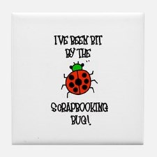 Bit By the Scrapbooking Bug Tile Coaster