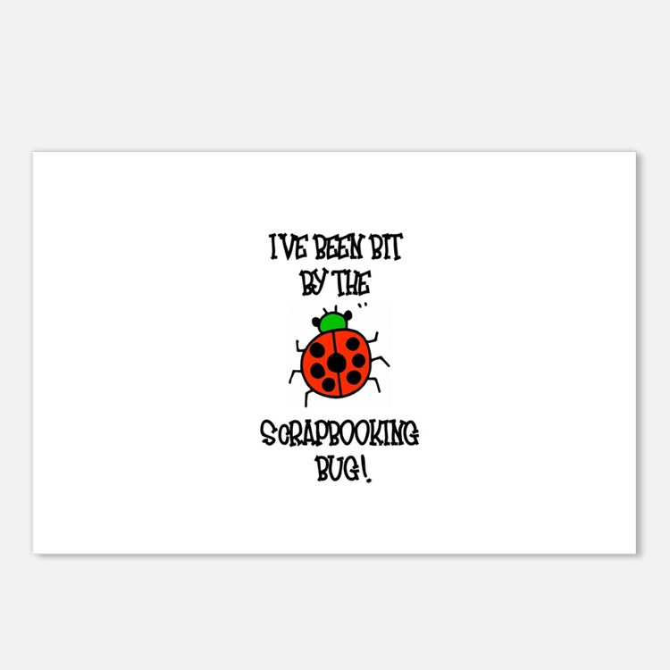 Bit By the Scrapbooking Bug Postcards (Package of