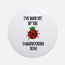 Bit By the Scrapbooking Bug Ornament (Round)