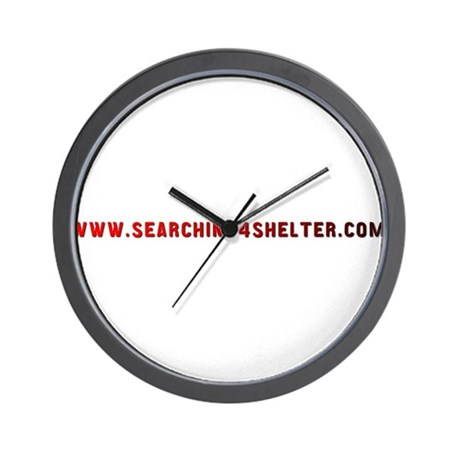 Searching4Shelter Wall Clock