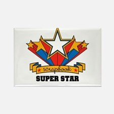 Scrapbook Superstar Rectangle Magnet
