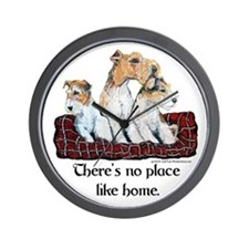 Wire Fox Terrier Home Wall Clock