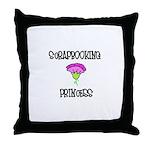 Scrapbooking Princess Throw Pillow