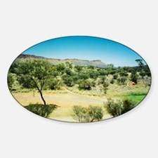 Alice Springs Landscape Oval Decal