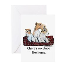 Wire Fox Terrier Home Greeting Card