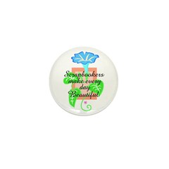 Scrapbookers - Make Days Beau Mini Button (100 pac