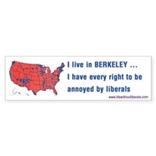 Berkeley Red States Bumper Bumper Sticker