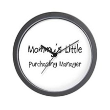 Mommy's Little Purchasing Manager Wall Clock