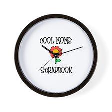 Cool Moms Scrapbook Wall Clock
