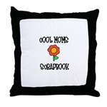 Cool Moms Scrapbook Throw Pillow