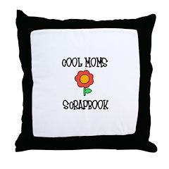 Cool Moms Scrapbook Throw Pillow