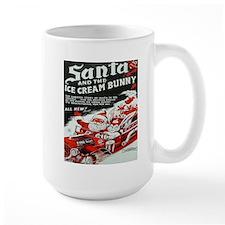 Santa And The Ice Cream Bunny Mug