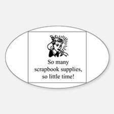 So Many Scrapbook Supplies Oval Sticker (10 pk)