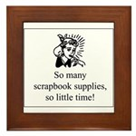 So Many Scrapbook Supplies Framed Tile