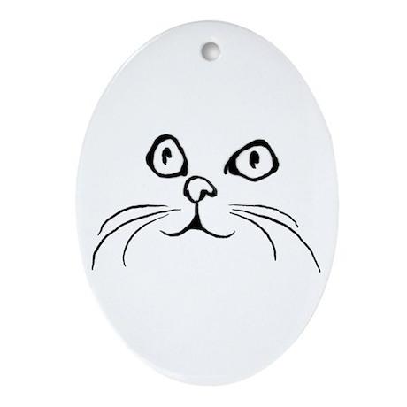 Kitty Face Keepsake (Oval)