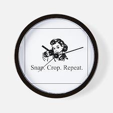 Scrapbooking - Snap. Crop. Re Wall Clock