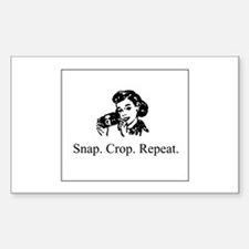 Scrapbooking - Snap. Crop. Re Rectangle Decal