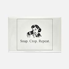 Scrapbooking - Snap. Crop. Re Rectangle Magnet