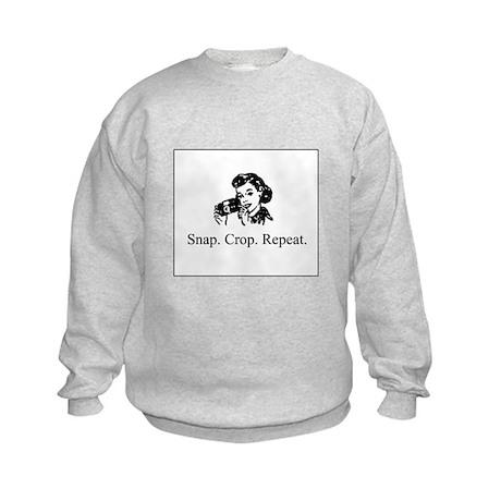 Scrapbooking - Snap. Crop. Re Kids Sweatshirt