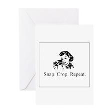 Scrapbooking - Snap. Crop. Re Greeting Card