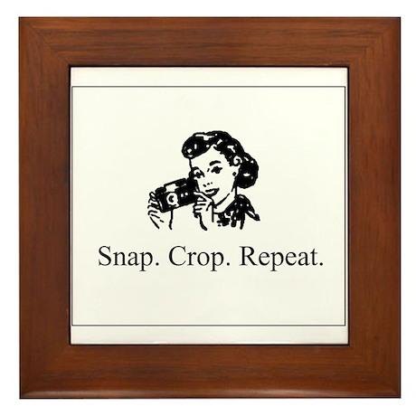 Scrapbooking - Snap. Crop. Re Framed Tile