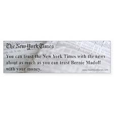 Madoff NYT Bumper Bumper Sticker
