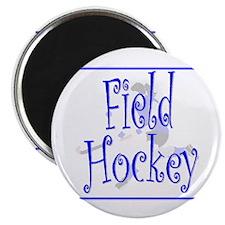 Field Hockey Magnet - Blue