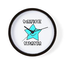Scrapbook Superstar Wall Clock