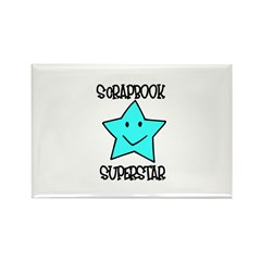 Scrapbook Superstar Rectangle Magnet