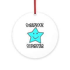 Scrapbook Superstar Ornament (Round)