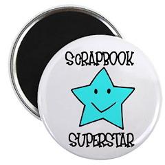 Scrapbook Superstar Magnet