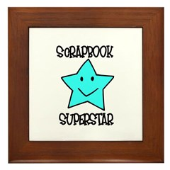 Scrapbook Superstar Framed Tile