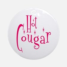 Hot Cougar Ornament (Round)