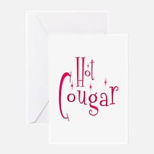 Hot Cougar Greeting Card