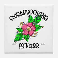 Scrapbooking Princess Tile Coaster