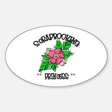 Scrapbooking Princess Oval Decal