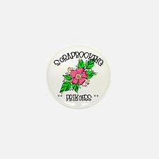 Scrapbooking Princess Mini Button (10 pack)