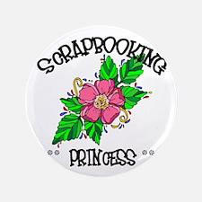 "Scrapbooking Princess 3.5"" Button (100 pack)"