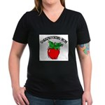 Scrapbooking Mom Women's V-Neck Dark T-Shirt