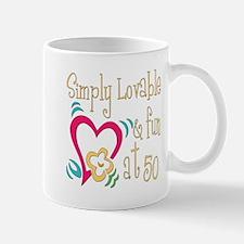 Lovable 50th Mug