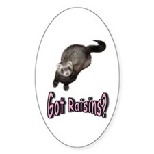 Got Raisins? Pink Oval Decal