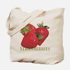 Fresh Summer Strawberries Tote Bag